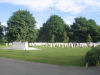 Grimsby (Scartho Road) Cemetery– This a view of the WW2 section of Grimsby (Scartho Road) Cemetery where D P McDonald is buried.