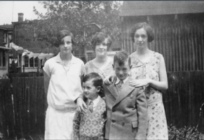 Photo of William Norman Gould– Leila, Gwelda, Muriel, Bill and Burt. Submitted for the project Operation Picture Me