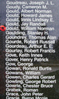 Memorial– Flight Sergeant William Norman Gould is also commemorated on the Bomber Command Memorial Wall in Nanton, AB … photo courtesy of Marg Liessens