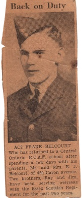 Newspaper Clipping– Frank Belcourt
