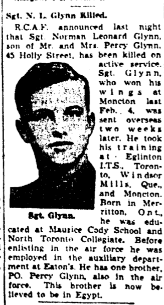 Newspaper clipping– Memorialized on the pages of the Globe and Mail. Submitted for the project, Operation Picture Me