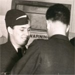 Photo 5 of Kimble Calvin Sanderson– Kimble Calvin Sanderson receiving his wings in St. Jean, Quebec. This photo was taken in February of 1943.