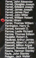 Memorial– Pilot Officer Hiram Farrer is also commemorated on the Bomber Command Memorial Wall in Nanton, AB … photo courtesy of Marg Liessens