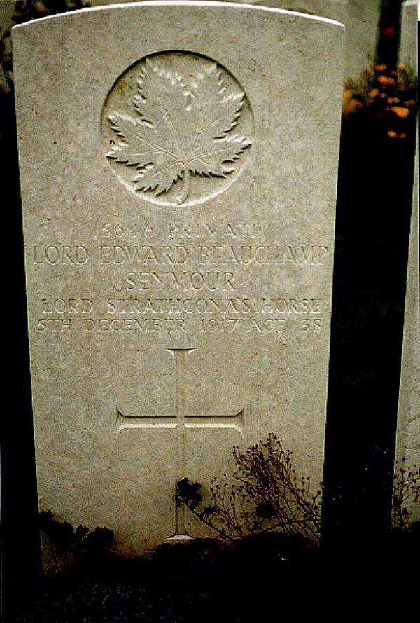 Headstone of Edward B. Seymour