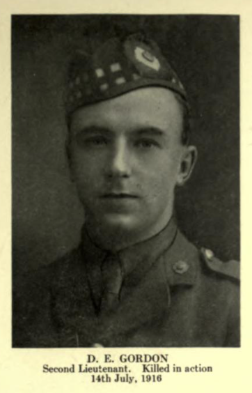 Photo of DAVID ELDER GORDON– In memory of the employees from the Canadian Bank Of Commerce (CIBC) who went to war and did not return. Submitted for the project, Operation: Picture Me