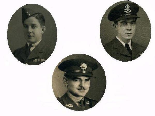Hergott Brothers– Hergott Brothers, Sons of Peter & Emma Hergott of Waterloo, ON, Canada. (top left: Wilbert (died 1942), middle: Raymond, top right: Gerard (died 1944)).