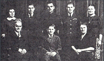 Photo of WILBERT NICHOLAS HERGOTT– (Back Row) Florence, Gerard, Raymond, Wilbert and Marcella. (Front Row) Peter, Carl and Emma. Submitted for the project, Operation Picture Me