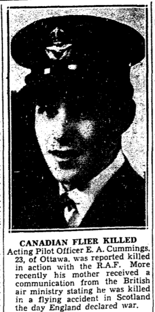 Newspaper clipping– From the Toronto Star October 1939. Submitted for the project Operation Picture Me