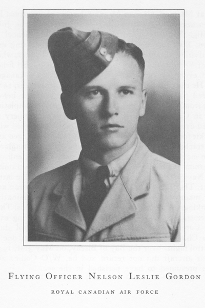 """Photo of NELSON LESLIE GORDON– From the book """"Field of Honour"""" published in 1950."""