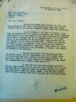 Letter– Letter to Mr. Gordon about the crash that claimed his son's life.   LAC, Ottawa.