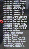 Memorial– Sergeant Robert James Jackson is also commemorated on the Bomber Command Memorial Wall in Nanton, AB … photo courtesy of Marg Liessens