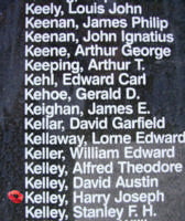 Memorial– Flight Sergeant Harry Joseph Kelley is also commemorated on the Bomber Command Memorial Wall in Nanton, AB … photo courtesy of Marg Liessens