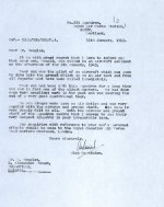 Letter– First letter from G/C Max Aitken, CO of 235 Sqdn. to Mr. Douglas  Source: Whitehouse via Archives Canada