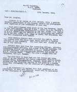 Letter (2) page 1– Second letter from G/C Max Aitken CO of 235 Sqdn. to Mr. Douglas.  Source: Whitehouse via Archives Canada