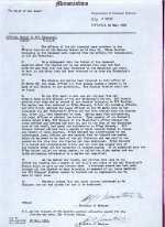 Letter– Letter to the Chief of Air Staff from the Director of Estates (RCAF).   What really happened we will never know, but somehow Douglas' diaries have 'disappeared'.  Source: Whitehouse via Archives Canada