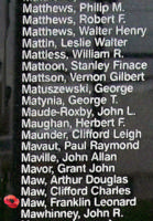 Memorial– Pilot Officer Franklin Leonard Maw is also commemorated on the Bomber Command Memorial Wall in Nanton, AB … photo courtesy of Marg Liessens