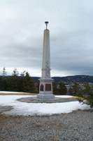 The Curling monument– Gordon is commemorated on the monument in Curling, Newfoundland.