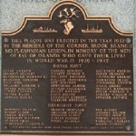Plaque on the Curling monument