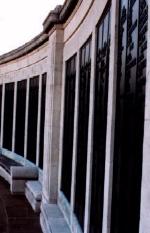 Memorial– The panels of the Chatham War Memorial.