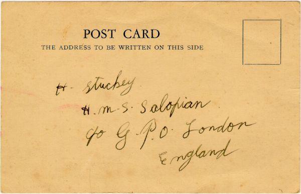 Post card that Herbert sent to his sister