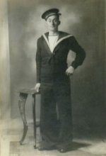 Photo of Herbert Stuckey– Herbert in his Seaman Uniform. Born on September 9, 1913, died at age 29 on the HMS Avenger.
