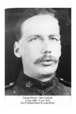 """Photo de Edward Brown – Edward Brown de Lloydminster est allé à la guerre """"en représentant la famille"""""""