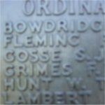 Memorial Inscription– Portsmouth Naval Memorial