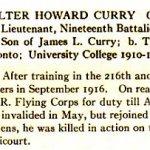 Roulement d'honneur – «Roll of Service 1914-1918» de l'Université de Toronto, publié en 1921.