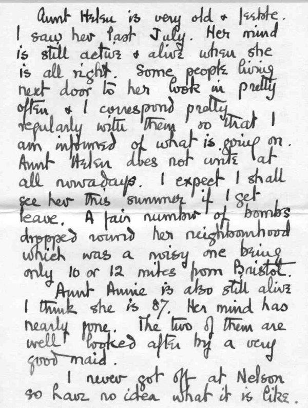 Lettre à sa famille, p.3