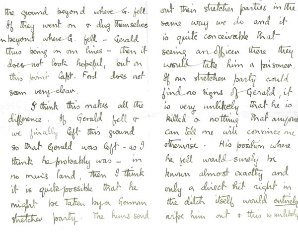 Letter from Fritz (pages 2 and 3)