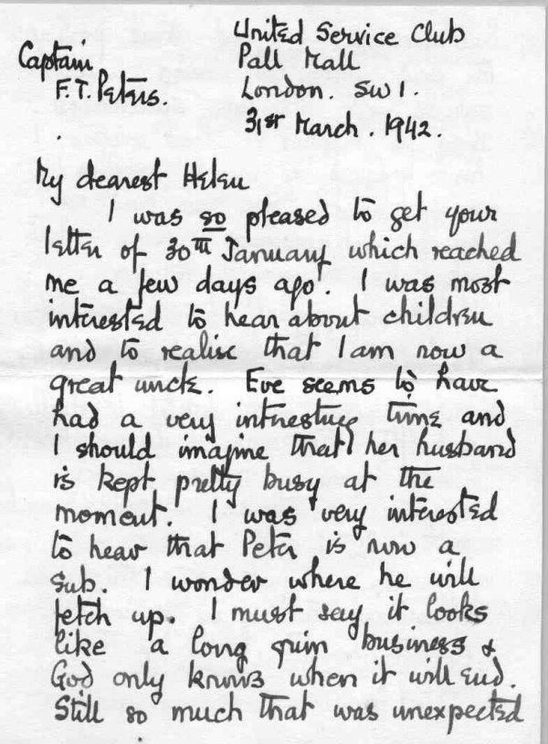 Letter to family, p.1