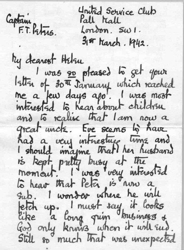 Lettre à sa famille, p.1