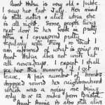 Letter to family, p.3– 3rd page of a letter from F.T. Peters to his family in 1942.