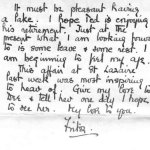 Letter to family, p.4– Last page of a letter from F.T. Peters to his family in 1942.