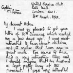 Letter to family, p.1– Letter from F.T. Peters to his family in 1942.