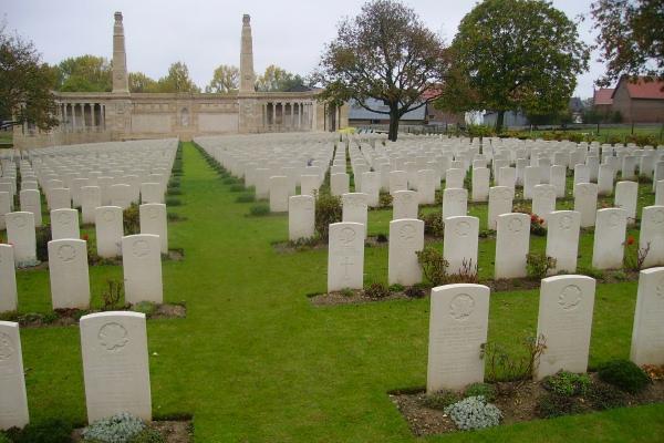 Cemetery– Vis-en-Artois British Cemetery … photo courtesy of Marg Liessens