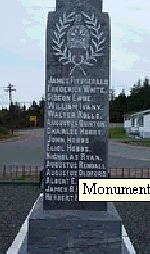Photo of A.A. Oldford– Augustus Albert Oldford is commemorated on this monument in Summerville, Newfoundland.