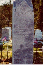 Monument 2– Closer view of Isaiah Stringer's grave marker.