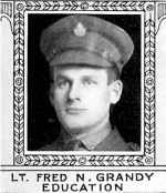 Photo of Frederick Grandy– From: The Varsity Magazine Supplement Fourth Edition 1918