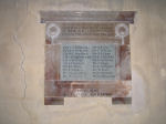 Memorial– This War Memorial tablet is inside All Saints Church, Stanhoe, Norfolk, England  on which Arthur Linge's name is commemorated (RH side 6th name down).  He was born in Stanhoe.