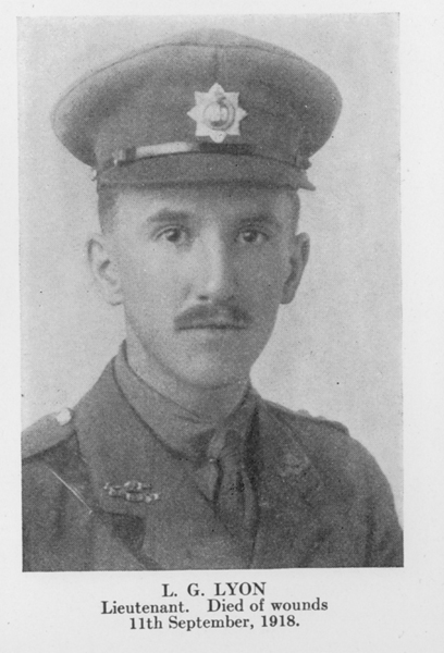 """Photo of Lawrence Lyon– From the book """"Letters From The Front 1914-1919"""" published by The Canadian Bank of Commerce."""