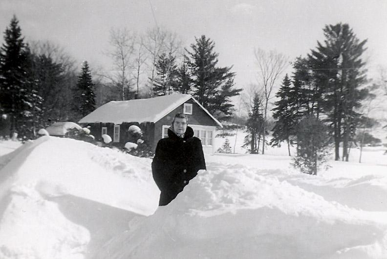 Photo of Olive Oldenburg– Olive Oldenburg at house in Huntsville,Ontario,Canada 1930's