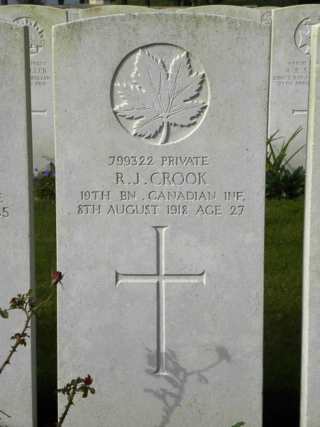 Grave Marker– Submitted by 15th Bn Memorial Project Team.  DILEAS GU BRATH