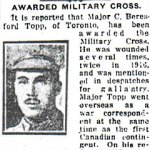 Newspaper Clipping 3– Pte. John Topp's brother also served during World War One.
