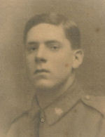 Photo of Percy William Vanner– 1914 -1918 the only picture we have come across