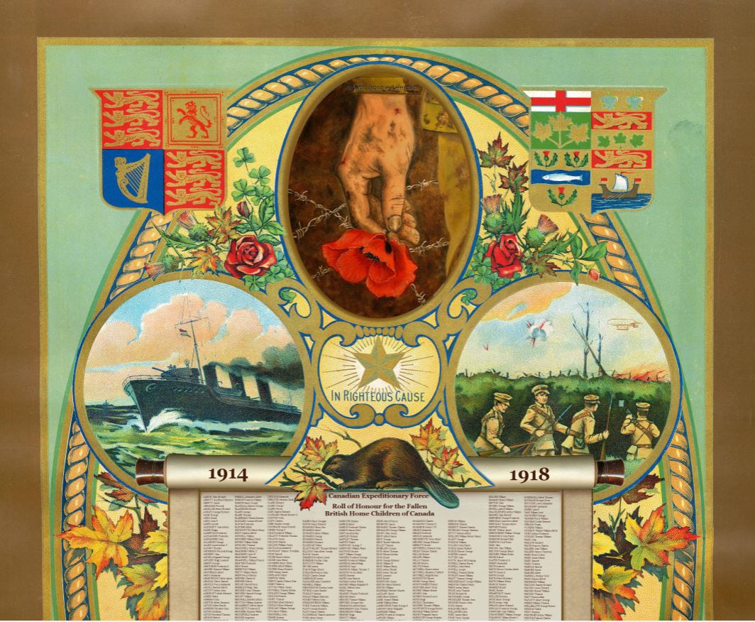Honour roll– Vanner, Percy William:  Service no. 124407 was a British Home Child. This Honour Roll recognizes their contribution to the First World War.