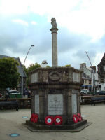 War Memorial– Memorial bearing the name of Lieutenant Grant, located in Somerled Square, Portree, Isle of Skye, Scotland