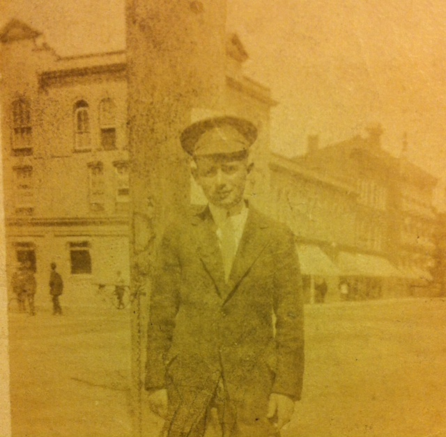 Donald Ross at Commerce Bank in Cobourg, Ontario c.1916.
