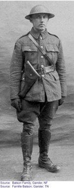 "Picture of Arthur Richard Batson– ""Arthur in his Canadian Infantry Uniform"""