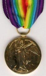 Victory Medal (Inter-Allied War Medal)– Victory Medal (Inter-Allied War Medal) donated by the Batson family of Gander, Newfoundland.